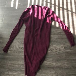 Free people maroon duster